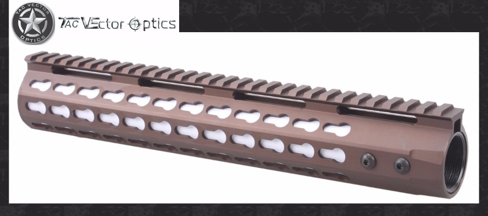 Vector Optics GEN III Rifle 12 Inch Free Float .223 5.56 Keymod Handguard Rail Mount Burnt Bronze Flat Dark Earth Color