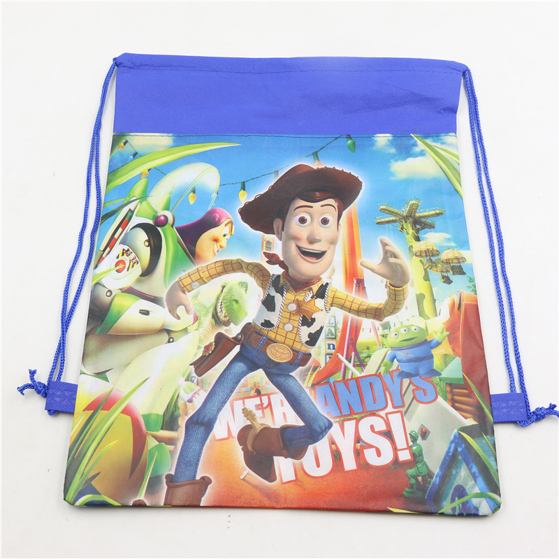 Festive & Party Supplies 12pcs Toy Story Kids Girls Boys Non-woven Drawstring Fabric Backpacks Woody Buzz Lightyear Boys Birthday Party Gift Bag Supplies Professional Design Event & Party