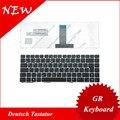 Teclado alemão para asus eee pc epc u20 u20a u20g ul20 ul20a ul20ft ul2at vx6 gr teclado preto quadro de prata