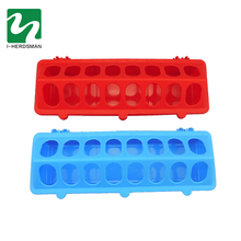 Plastic Flip-Top Poultry Ground Feeder Chicken Poultry Feeder Trough Chicken farming tool Pheasant feeding bucket Quality Chick