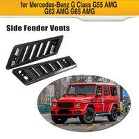 Car side airflow fender outlet cover trim sticker trim Carbon Fiber For Mercedes Benz G CLASS G55 G63 G65 AMG 2004 2018