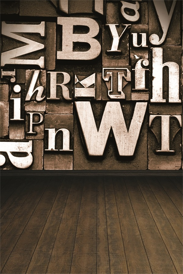Laeacco Vintage Letter Style Wall Wood Floor Photo Backgrounds Vinyl Digital Customized Photography Backdrops For Photo Studio