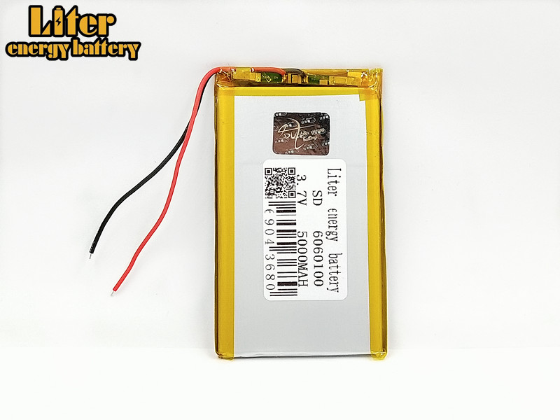1/2/4Pcs 3.7V 5000mAh <font><b>6060100</b></font> PLIB polymer lithium ion / Li-ion battery for MP4 MP5 tablet pc E-book power bank GPS MID PAD image