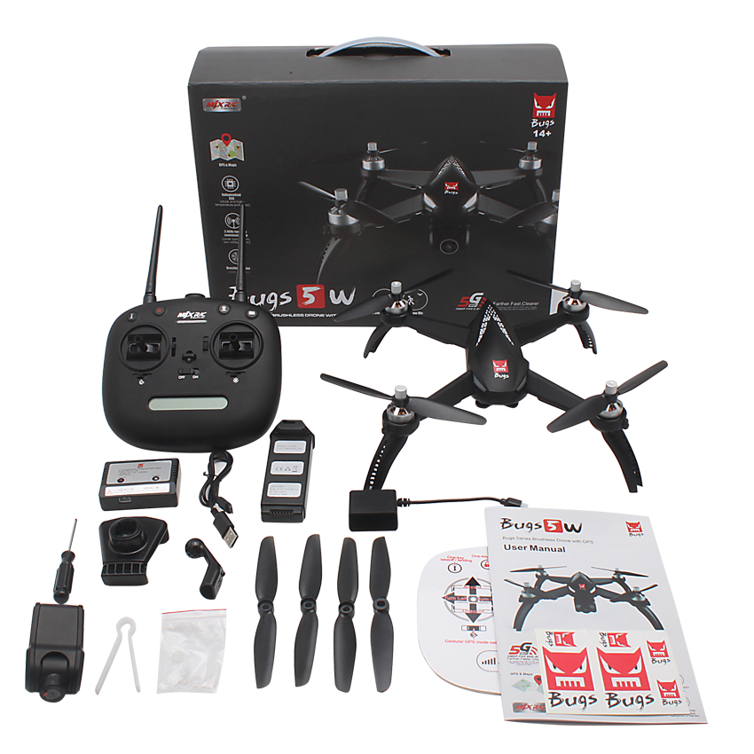 Erros 5 W B5W GPS FPV Brushless Do Motor MJX Grande Zangão RC com WI-FI 1080 P HD Camera RC Quadcopter VS Helicóptero X16pro Bugs 3 RC Dron