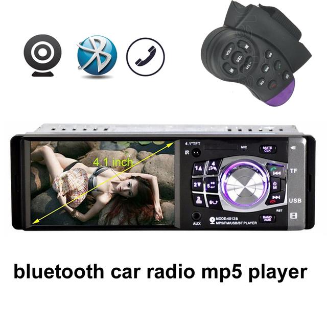 New 4.1 ''TFT HD MP5 Player 12 V Carro Do bluetooth rádio Do Carro de áudio e Vídeo MP5 FM USB apoio Câmera traseira W/Controle Remoto de Direção controle