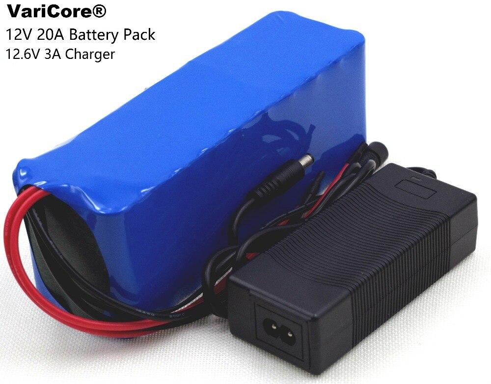 12 В 20000 мАч 18650 литиевая батарея разряда 20A 240 Вт с BMS ксеноновая лампа шахтера Батарея пакет + 12,6 В 3A Зарядное устройство