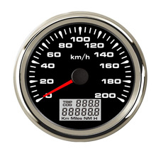 85mm Digital GPS Speedometer Gauge 120km/h 200km/h Car Marine Boat Speedometer with 7 Colors Backlight for BMW e60 e46 Audi