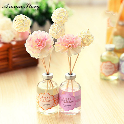 3pcs/lot Home Fragrance Oil Rattan Ball Sola Flower Reed ...