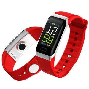 Image 4 - L8STAR R7 חכם צמיד להקת יד שעון גשש כושר קצב לב בריאות צג USB טעינה דם לחץ IP67 צעדים