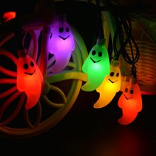 6M 30Leds Cute Ghost String light Solar Powered Waterproof Christmas Festival Decoration Lamp For Outdoor Halloween Garden Party