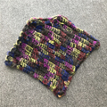 SRR011 genuine rabbit fur shawl Russian women's winter real mink fur Scarves poncho colorful multiple color
