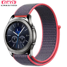 CRESTED Gear s3 Frontier strap For Samsung Galaxy watch 46mm band 22mm correa S 3 Bracelet amazfit huawei
