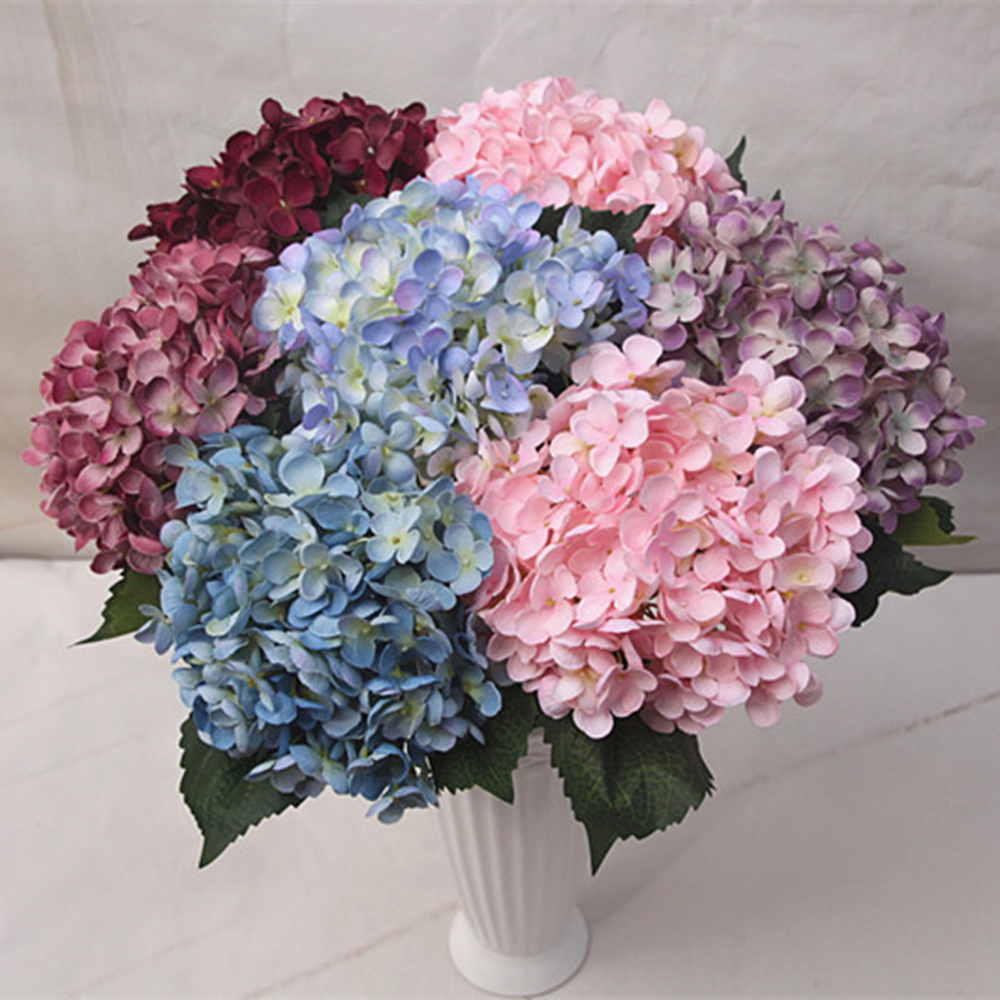 Luxury artificial hydrangea flower simulation silk flowers wedding luxury artificial hydrangea flower simulation silk flowers wedding bouquet diy home wedding party decorative flowers 8 colors in artificial dried flowers izmirmasajfo