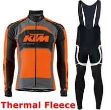 Pro team Ktm Cycling font b Jerseys b font Ropa Ciclismo maillot Winter thermal fleece Bicycle