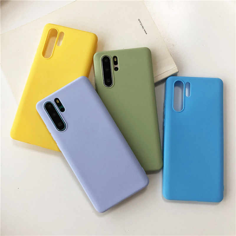 Mode Bonbons Couleur Silicone TPU Souple étui pour huawei P30 P20 Lite P Smart Z Plus 2019 Nova 2i 3 3i 4 5i 5 Pro étui pour téléphone mat