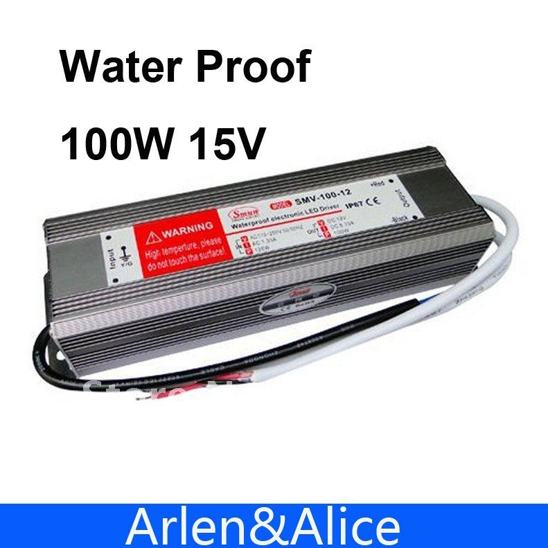 100W 15V Waterproof outdoor Single Output Switching power supply SMPS AC TO DC SUPLY