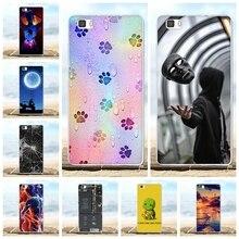 For Huawei P8 Lite Case Ultra Slim Soft TPU Silicone lite Cover Beach Patterned ALE-L21 Bumper Funda