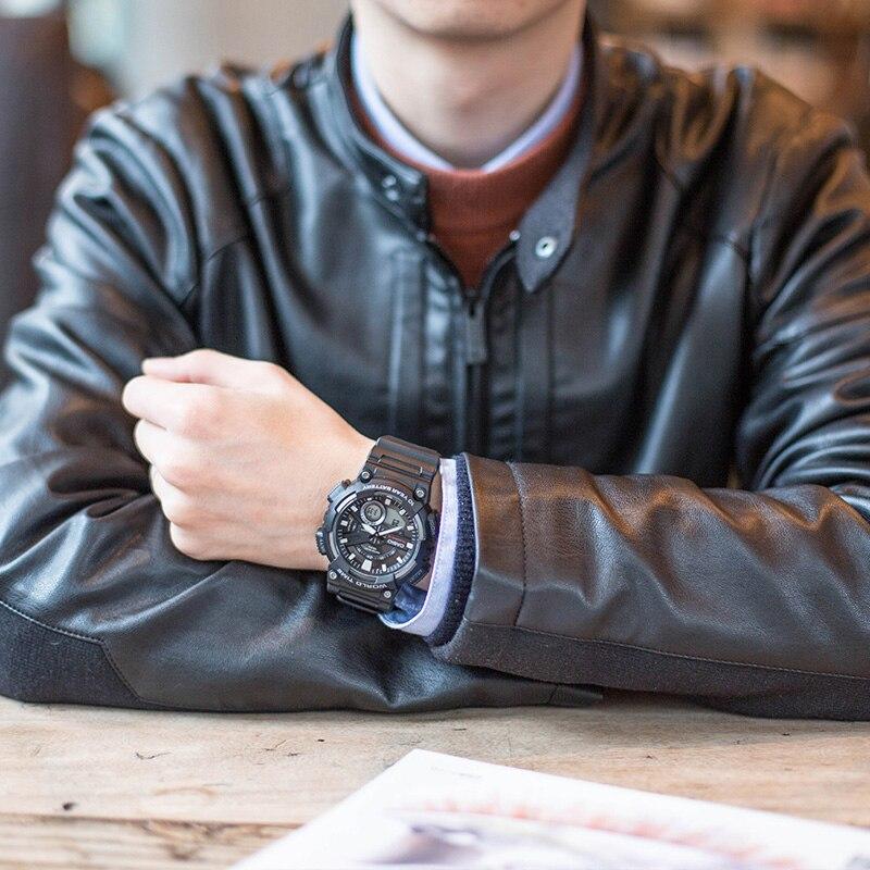 Casio Часы спортивные серии Смарт двойной дисплей многофункциональные электронные мужские часы AEQ 110W 1A - 5