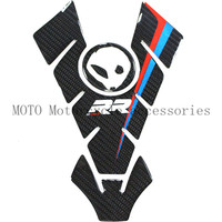 3D Carbon Motorcycle Stickers Decals Emblem Protection Tank Pad Gas Cap For BMW S1000RR Motorcycle Fuel Tank Decals Sticker