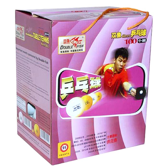 100x Double Fish 40mm White Table Tennis Training Balls for PingPong ...