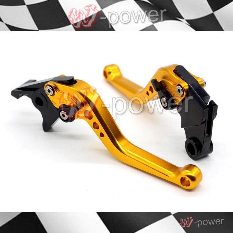 For KAWASAKI ZX6R NINJA 650R ZZR600 ZX9R Z750S motorcycle accessories CNC billet aluminum short brake clutch lever gold