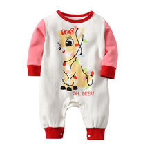Baby Christmas Clothes Deer Rompers 2018 Long Sleeve Costume for Infant Girl Winter
