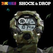 SKMEI Outdoor Sport Watch Men Alarm Clock 5Bar Waterproof Mi