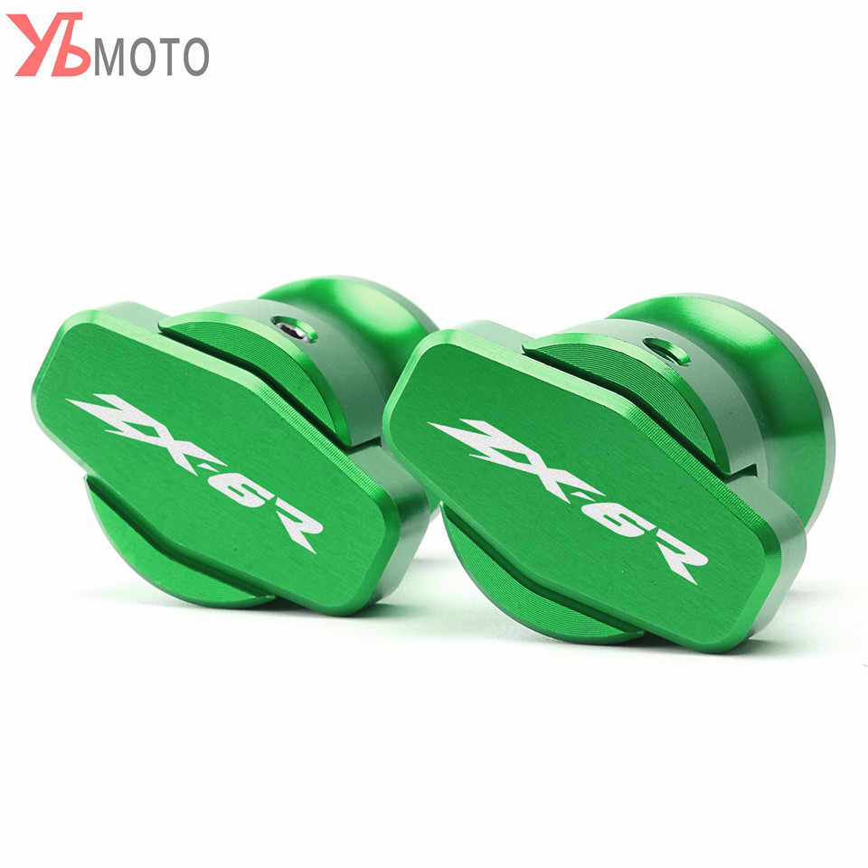 Motorcycle Accessories Aluminum Swingarm Spools Slider Stand Screws For Kawasaki ZX6R ZX-6R 2013 2014 2015 2016 8MM With Logo