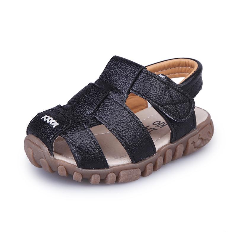 Meninos do bebê sandálias de verão da criança crianças sandálias de praia crianças dedo do pé fechado sapatos ao ar livre calçados esportivos tênis tamanho 21-30