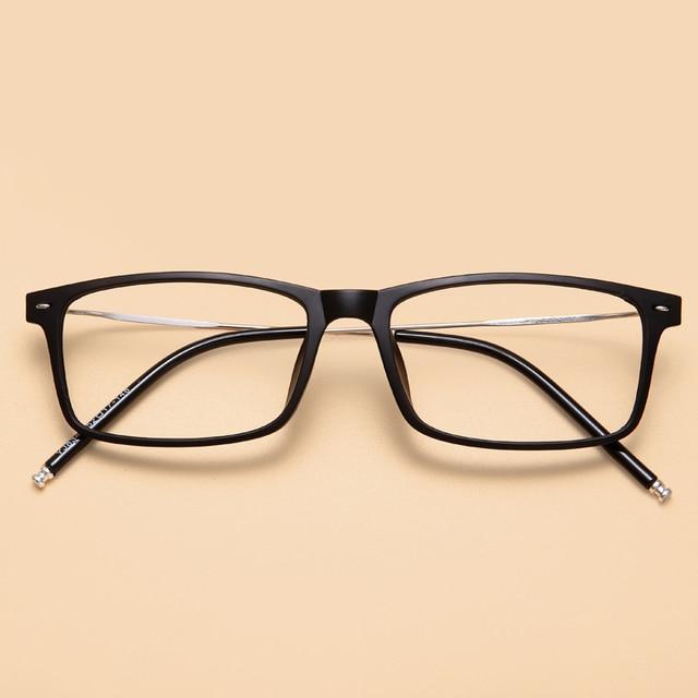 e454960aa7 MOYSSEN Korean Ultra-light Business TR90 Square Frame Myopia Glasses Memory  Arm Eyeglasses Men