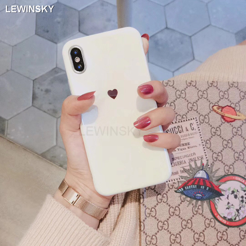 Luxury Blu-ray Soft Silicone Cases For iphone 6 6s 7 8 plus Love Heart Back Cover For iphone X 7 8 Full Protection Fundas Case
