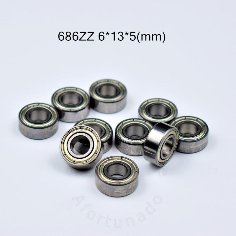 686 686ZZ Bearing 6*13*5(mm) 10pieces Free Shipping  ABEC-5 Bearings Metal Sealed Bearing 686 686Z 686ZZ Chrome Steel Bearing