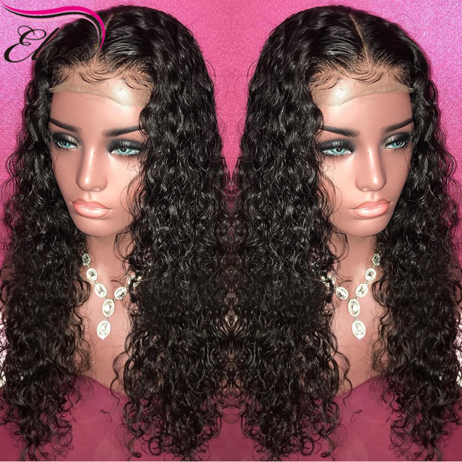 Curly Brazilian Lace Front Human Hair Wigs With Baby Hair Lace Front Wig For Black Women Remy Hair Pre Plucked Bleached Knots