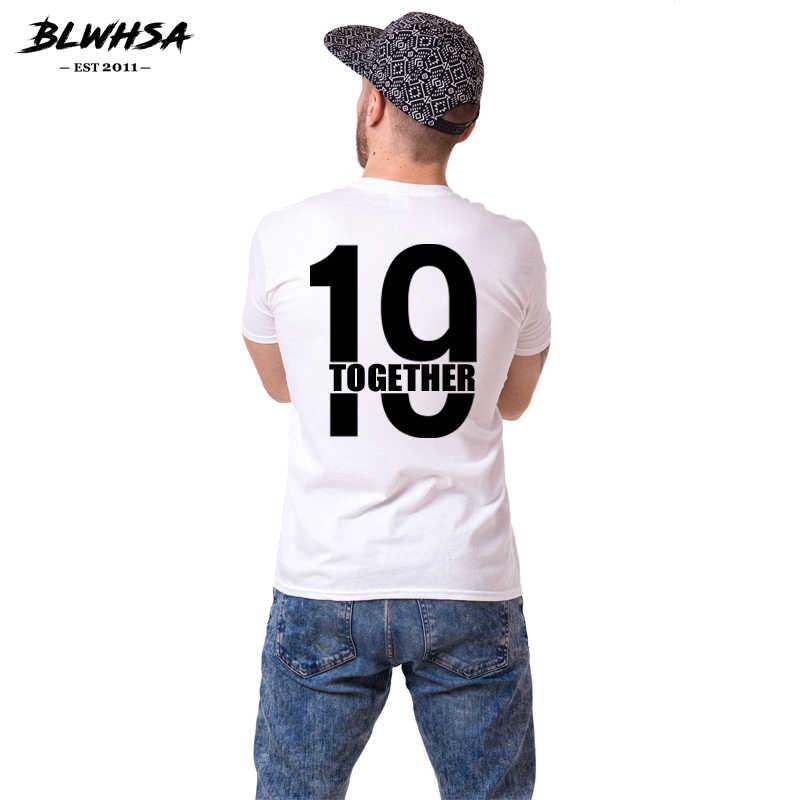 BLWHSA Paar T-shirt Sinds 1998 Samen Brief Print T-Shirt Vrouwen Mannen Hipster Mode Gedrukte T-shirt Casual T-shirt Voor minnaar