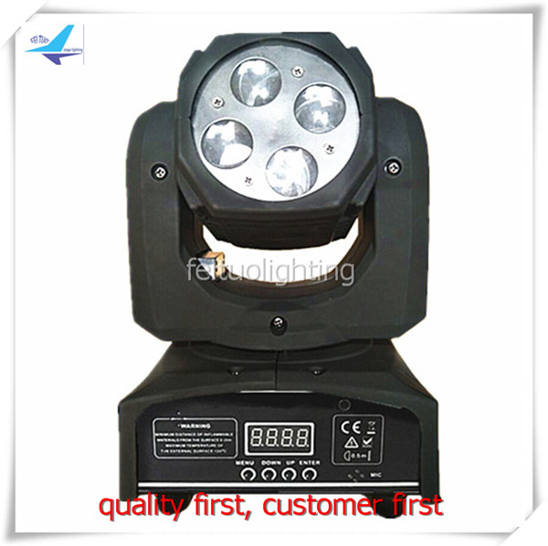 2pcs/lot LED Beam Stage Party Disco Moving Head Light 4x12w RGBW 4IN1 Lyre LED Luces Mini Rotation Auto Beam Lighting Party Club