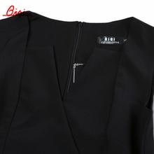 Qiqi Summer Elegant Women Business Dress V-neck Sexy Split black OL Office Work Tunic Bodycon Sheath Casual Pencil Dresses