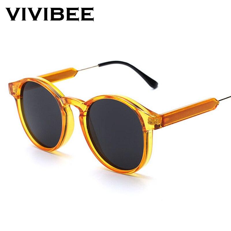 f60368236e7f74 Vente VIVIBEE Gothique Transparent Femmes Vintage lunettes de Soleil  Carrées 90 s Ronde Soleil Lunettes 2019 Tendances Produits uv 400 Femme  Sunglases Pas ...