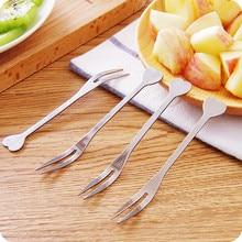 10pcs! High Quality stainless steel  fruit fork salad fork cake dessert  fork kitchen tableware.
