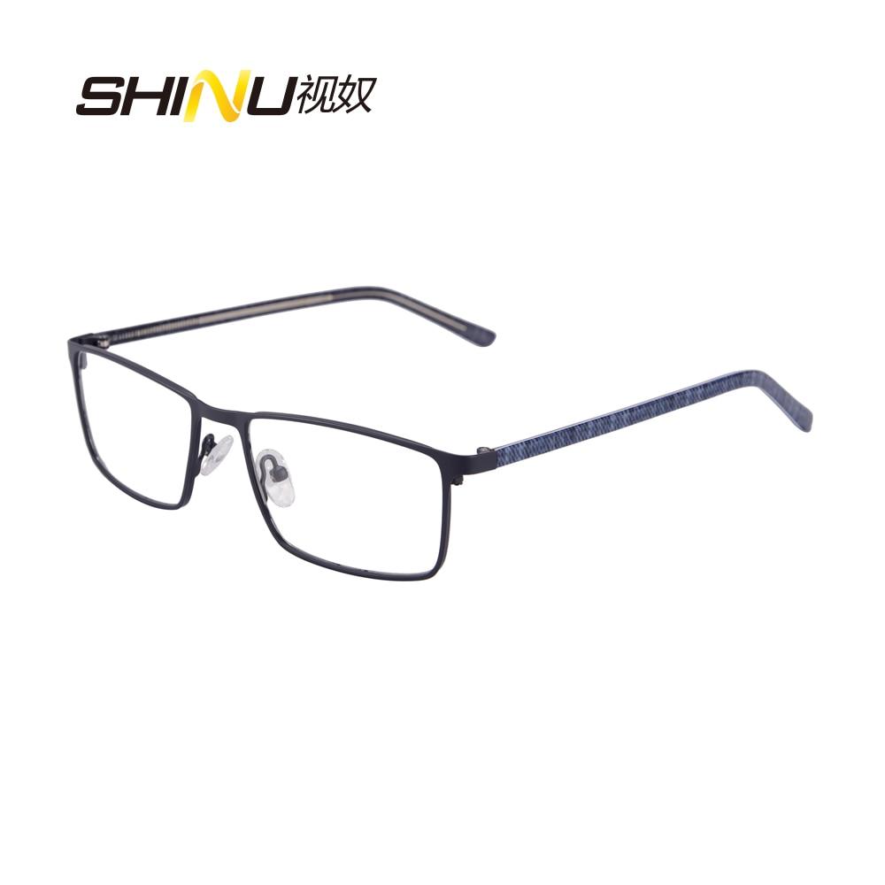 Kovové brýle Rám plný rám Brýle Rámy Slavná značka Náměstí Vintage Myopia Brýle Rám Muži a ženy SR8027