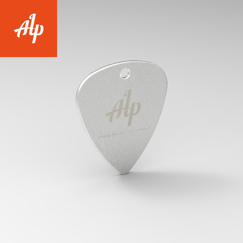 electric guitar pick, acoustic guitar pick, stainless steel, 1.2MM thickness guitar pick with ALP logo