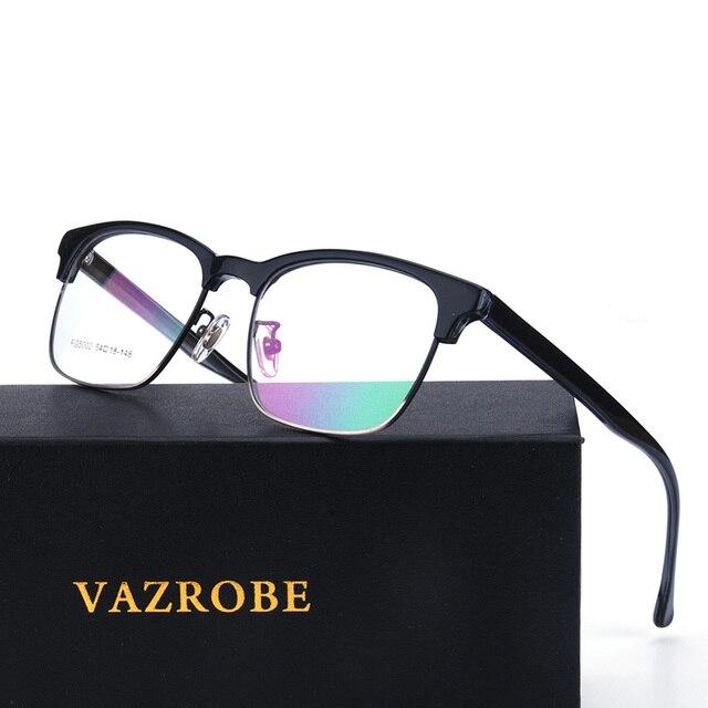 0dbdb5f9946 Vazrobe Best Acetate Oversized Eyeglasses Frame Men Prescription Spectacles  Semi Rimless Eye Glasses Frames for Man Large Square