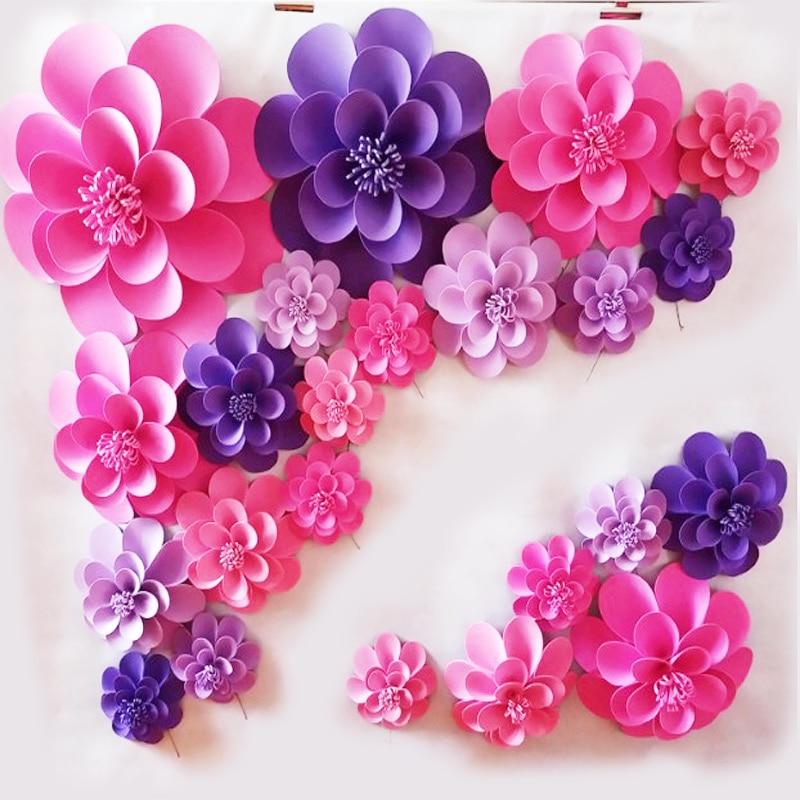 23 UNIDS CONJUNTO Flor gigante hecha a mano de papel de espuma para - Para fiestas y celebraciones