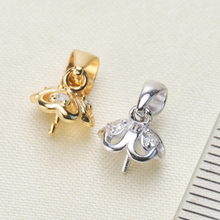Fashion Mussel Bead Pearl Pendant Mountings, Pendant Findings, Pendant Settings Jewelry Parts Fittin