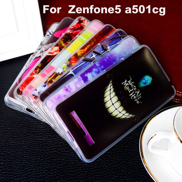 AKABEILA TPU Plastic Covers Cases For Asus Zenfone 5 ASUS_T00J (A501CG) A500CG A500KL ZenFone5 5.0 inch Case Cover Bags