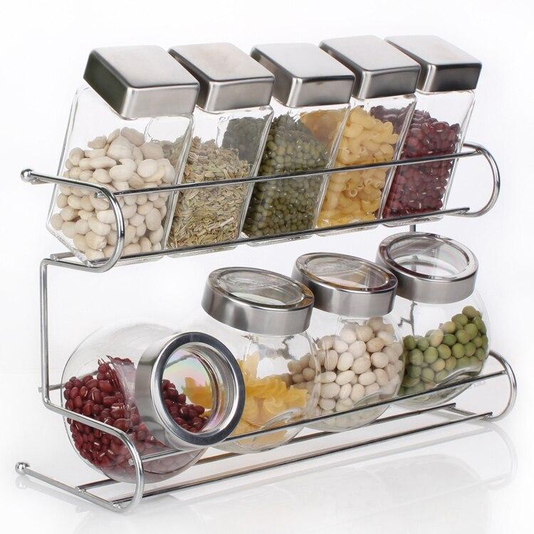 Aliexpress Buy Kitchen Spice Bottle Set Seasoning Jar Shelf Rack 10pcs From Reliable Suppliers On Y Estelle Store
