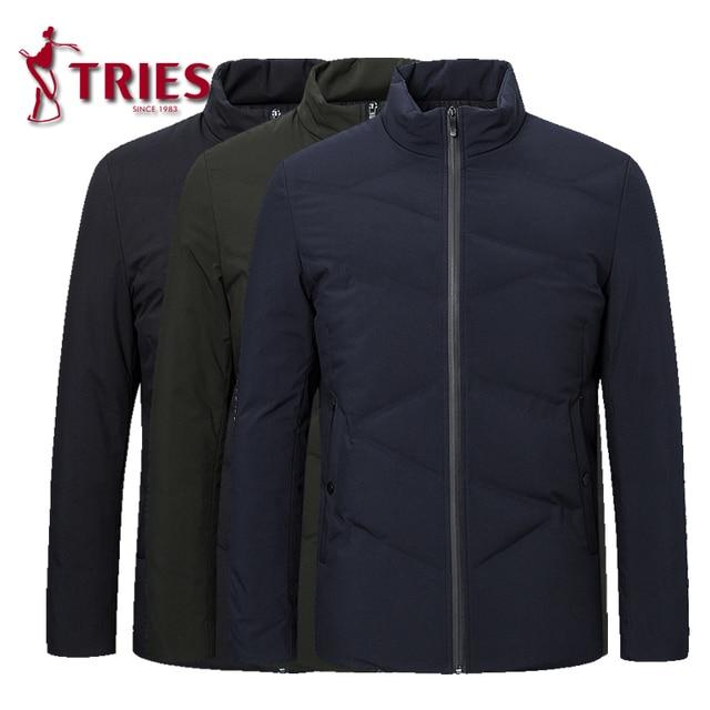 TRIES duck down jacket men winter coat men Brand mens down jacket lightweight down jacket for men Casual Outerwear mens clothing 5