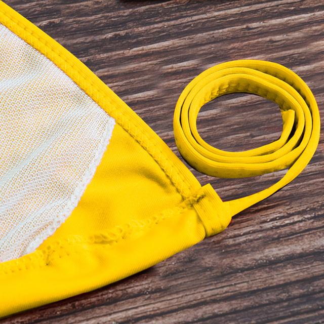 Vertvie Push Up Micro Bikini Set Women's Swimwear Low Waist Brazilian Halter Thong Swim Suit Female Solid Maillot De Bain Femme