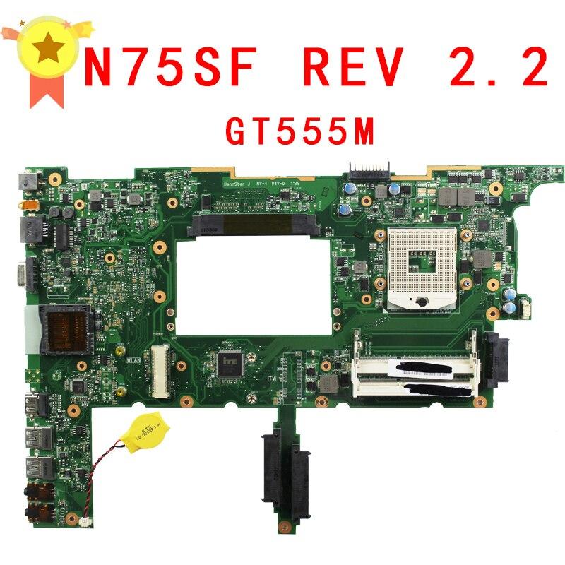 Laptop Motherboard System Board for asus N75SF N75SL N75S series mainboard