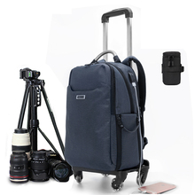 b4d9c007be20 New photography Rolling Luggage brand Digital shoulder handbag on Wheels  trolley camera bag Cabin High capacity