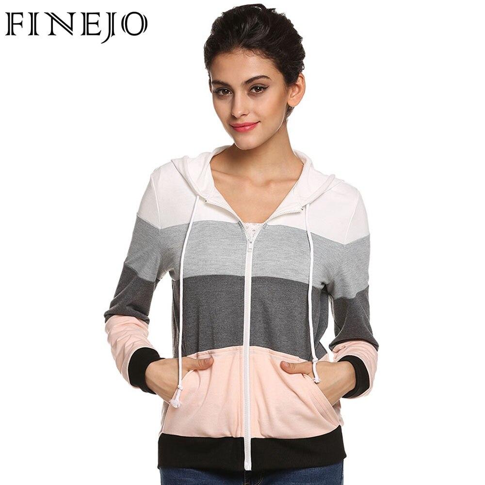 FINEJO Women Casual Hoodies Sweatshirts s